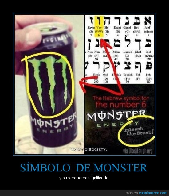 666,bebida,demonio,energia,monster,secreto,simbolo