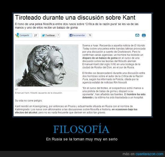 Filosofía,Kant,pelea,Rusia