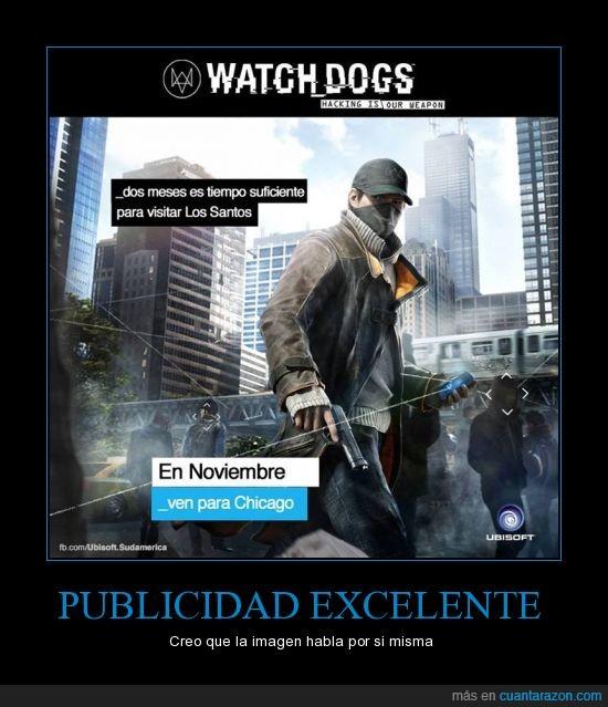 chicago,GTA V,los santos,meses,Publicidad,Watch Dogs,¿Todos obsesionados con GTAV? Aprovechemoslo
