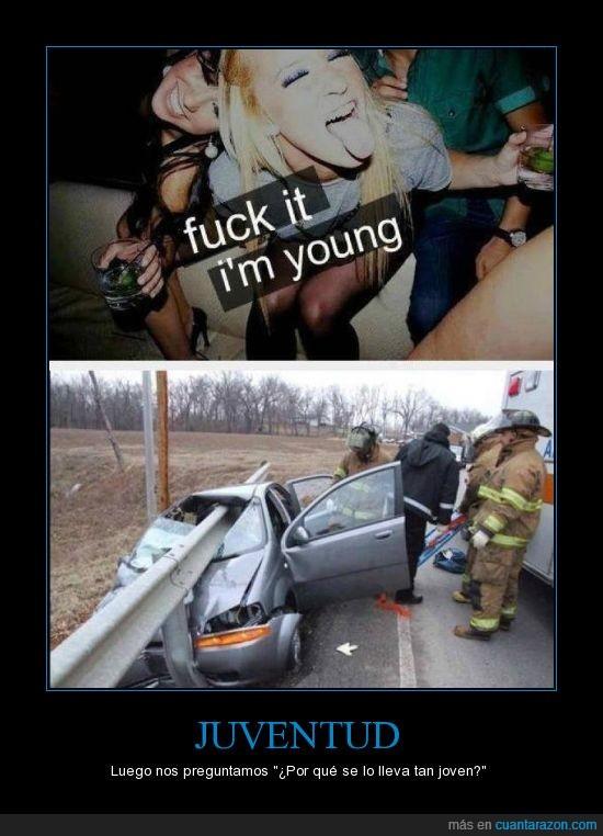accidente,alcohol,coche.,Juventud,muerte