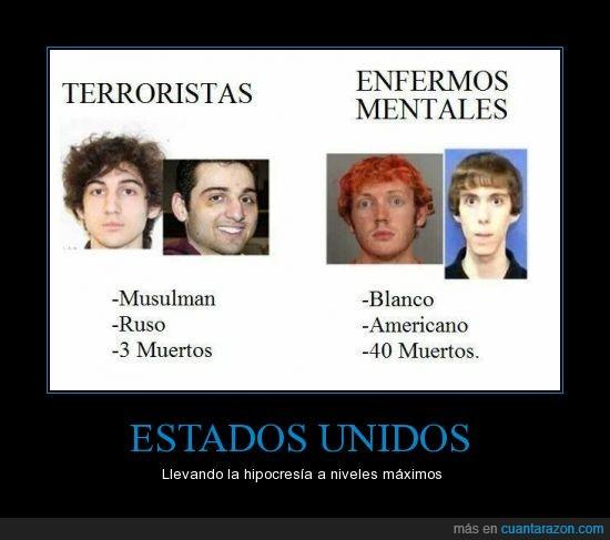 Estados Unidos,hipocresía,musulman.,ruso,terrorismo
