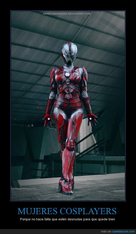 armadura,cosplay,cosplayer,ironman,mujer,mujeres,tumblr