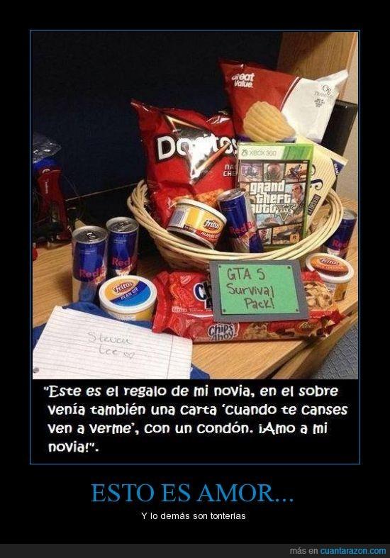 bebida,cesta,comida,friki,gta,regalo,survival