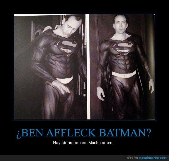 en serio ¿en que estaban pensando?,Nicolas Cage,Superman,traje