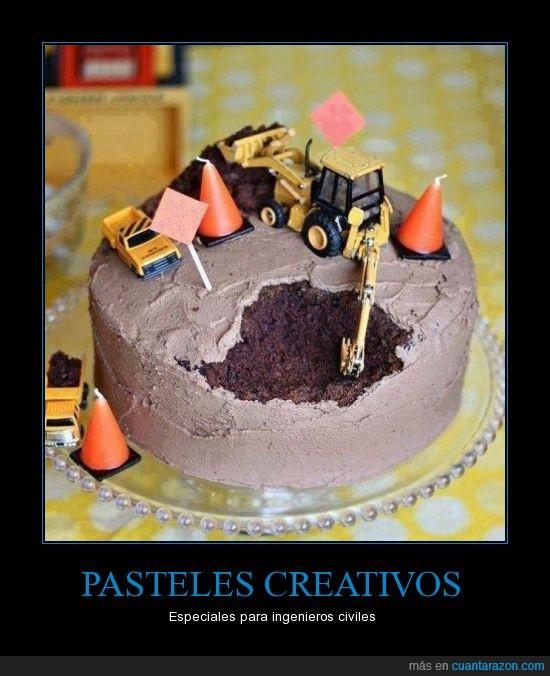 cavar,chocolate,ingeniero,maquina,pastel