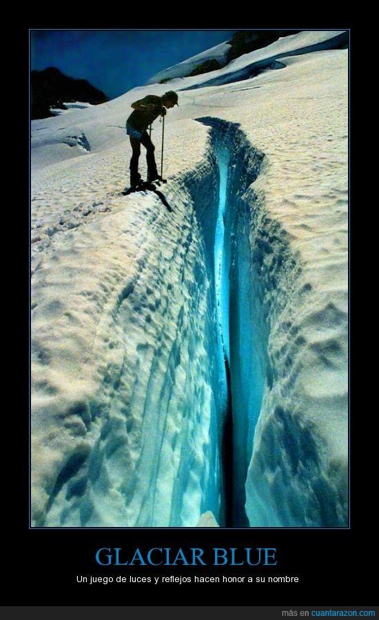 glaciar azul,grieta,olympus