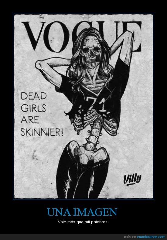 anorexia,esqueleto,las chicas muertas están más delgadas,revista,Vogue