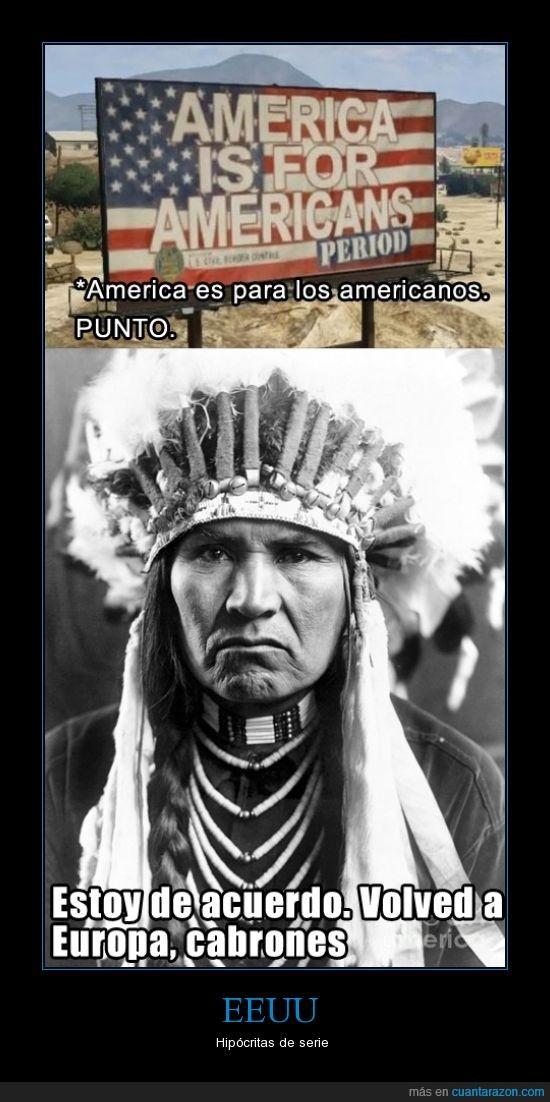 estadounidense,Europa,hipócritas,indio,justicia