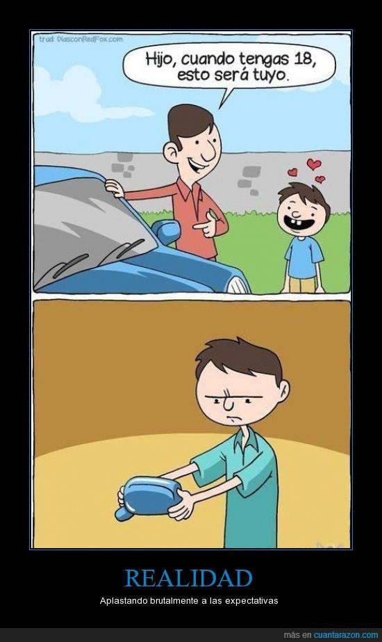 brutal,coche,expectativas,hijo,retrovisor