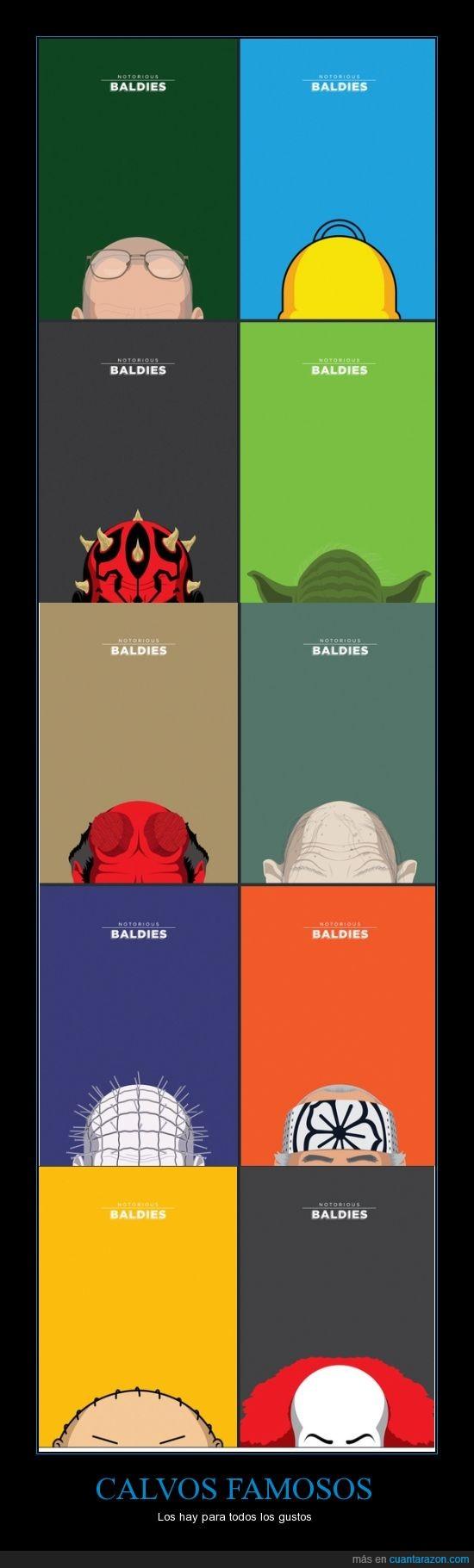 calvo,darth maul,famoso,gollum,heisenberg,hellboy,hellraiser,it,miyagi,stewie,yoda