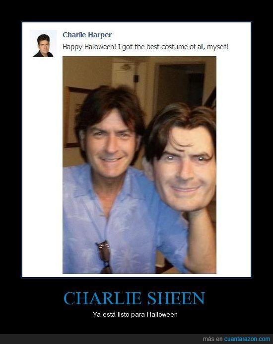 careta,charlie sheen,él,exacto