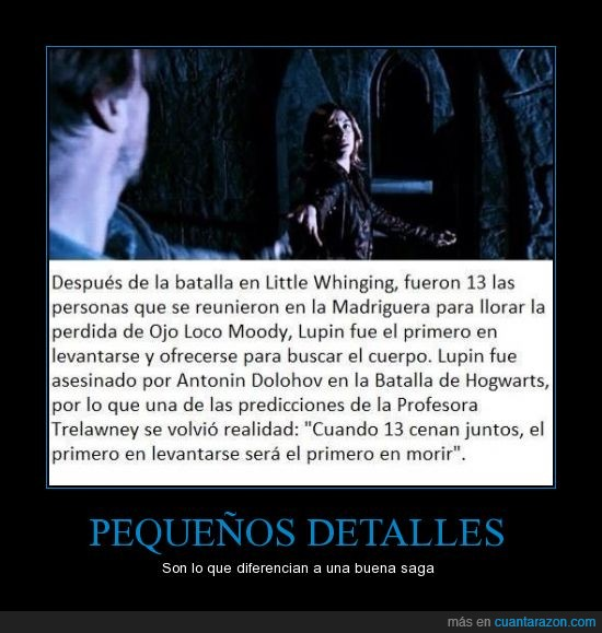 asesinato,Harry potter,Lupin,muerte,prediccion