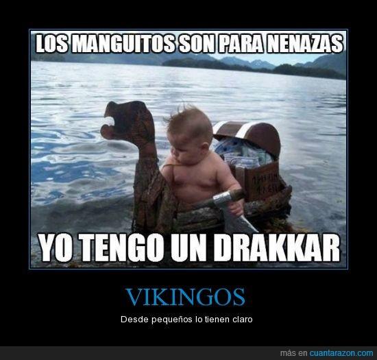 barco,drakkar,nenaza,niño,vikingo