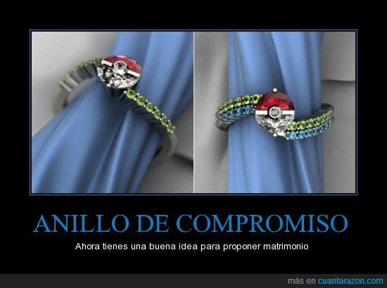 anillo,anillo de compromiso,matrimonio,pokebola,pokemon