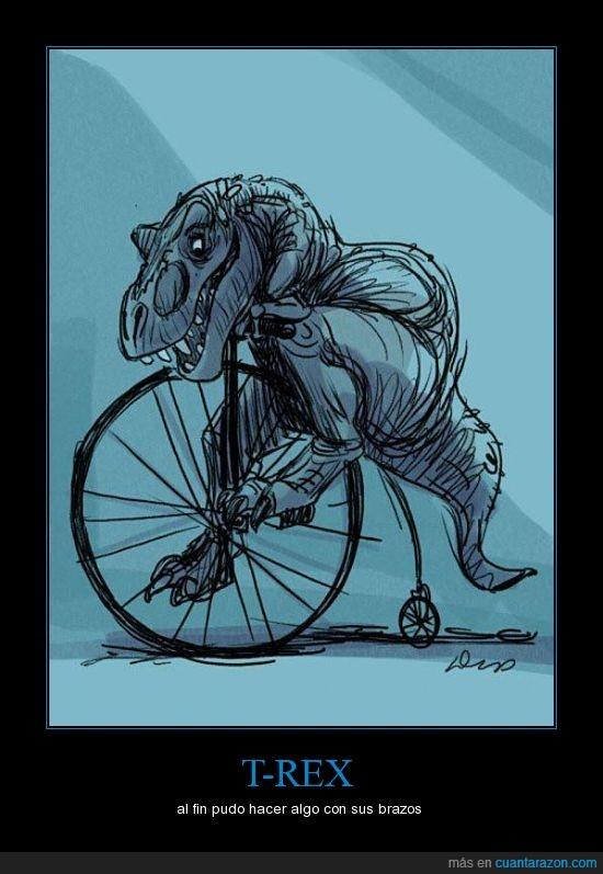 al fin,bicicleta,t-rex