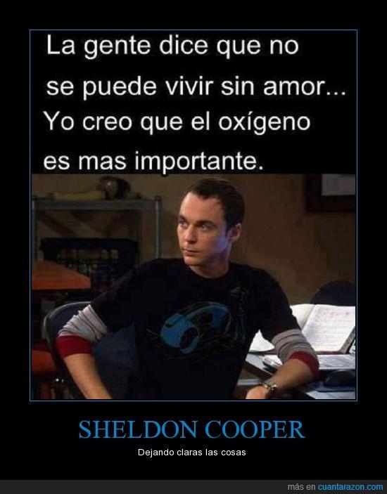 oxígeno,Sheldon cooper,también la dijo House,TBBT