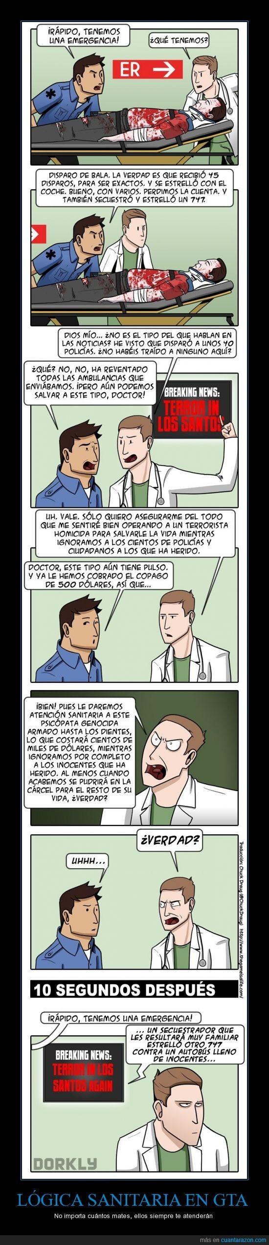 dinero,GTA,GTA V,Lógica,Los Santos,medico,sanidad