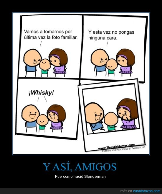 cyanide and happiness,familia,foto,sin cara,slenderman