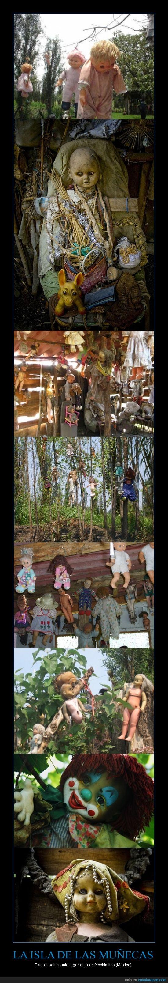 isla,mal rollito,México,miedo,muñecas,Xochimilco,yuyu