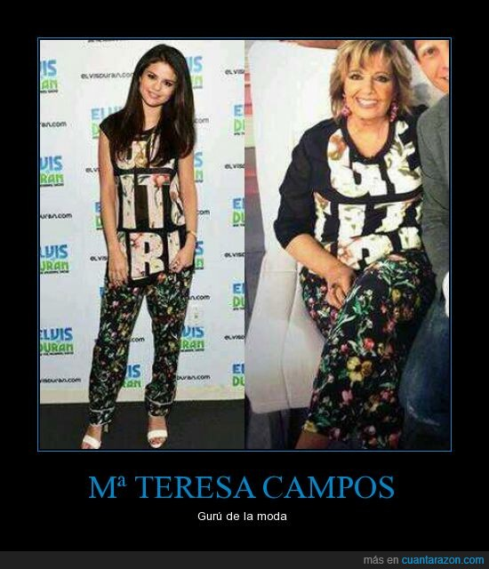 maria teresa campos,misma,ropa,Selena Gomez