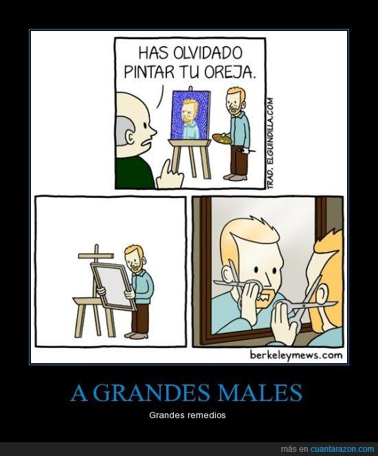 cortar,cuadro,humor,Oreja,pintar,van Gogh