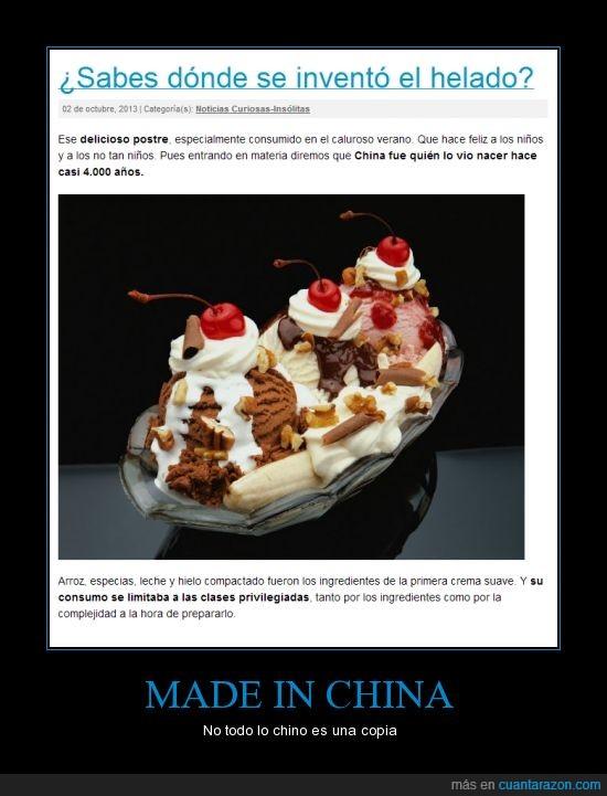 calor,china,copia,helado,made in china,rico,sabor,sol,verano