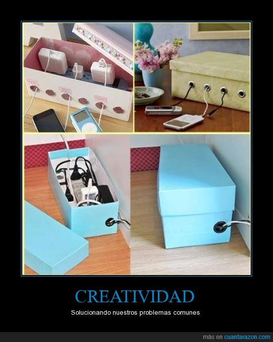 cables,caja,cargadores,creatividad