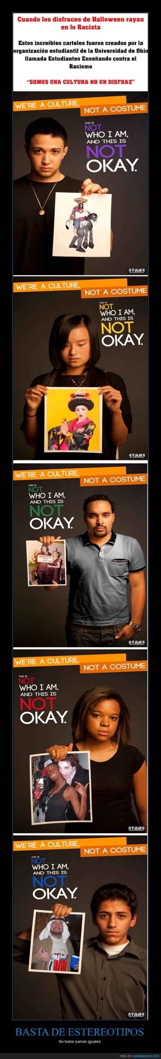 Disfraces,estereotipos,indio,mexicano,racismo,terrorista