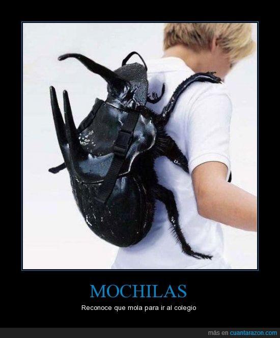 cartera,colegio,escarabajo,Mochila,mola