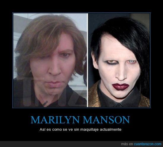 actualmente,marilyn manson,pintas,sin maquillaje