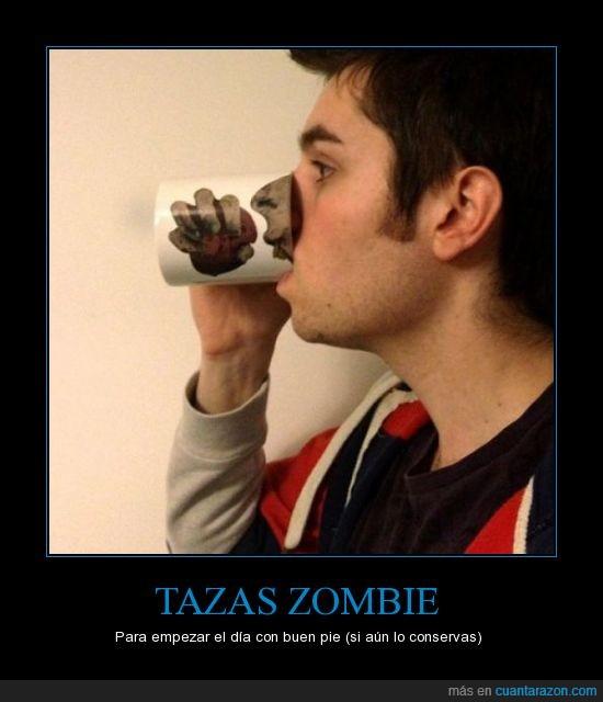boca,comer,taza,the walking dead,zombie
