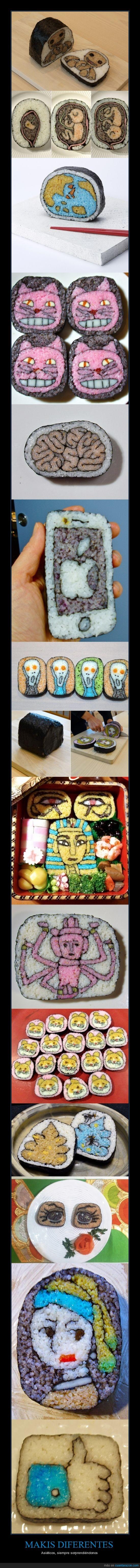 alga,arroz,arte,cara,color,cuadro,forma iphone,japon,joven de la perla,maki,sushi