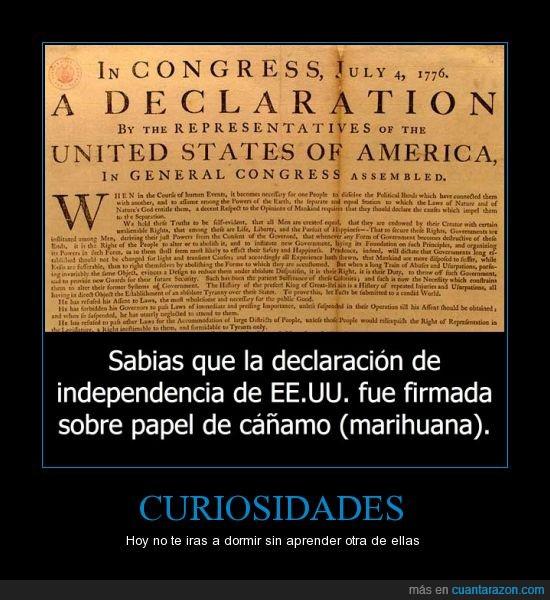 cañamo,cannabis,declaracion,eeuu,estados unidos,independencia,marihuana papel,usa