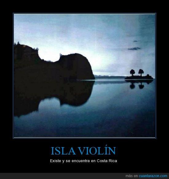 costa rica.,increíble,isla,música,naturaleza,paisaje,violín