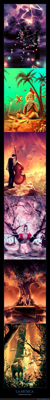 deviantart,hermoso,ilustracion,instrumentos,la musica,la orquesta