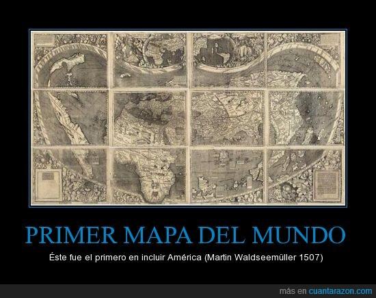 america,cartografo,mapa,primero