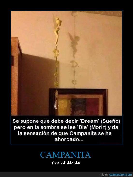 ahorcada,campanilla,die,Disney,dream,muerte