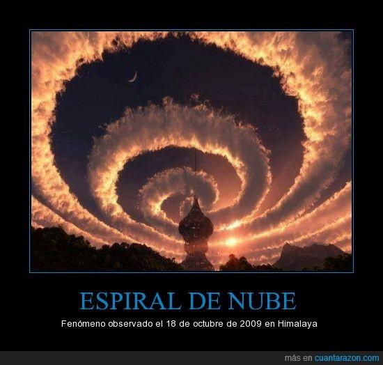 Espiral de Nube,Fenómeno,Himalaya