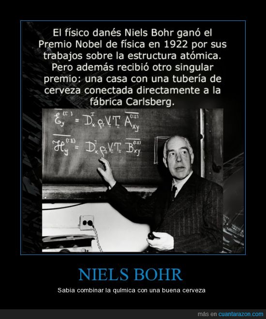 Carlberg,cerveza,directo,grifo,Niels Bohr,premio nobel,quimica