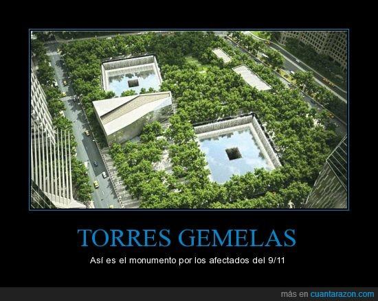 afectados,monumento,se construyeron el el mismo lugar,torres gemelas