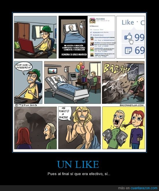 cancer,dar,facebook,like,me gusta,medico,nacer,padres,salvar,sorpresa