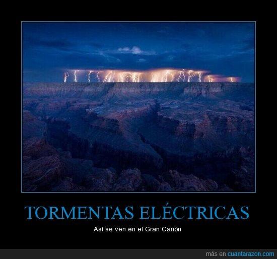 electrica,Gran cañon,rayos,tormenta,tormenta electrica
