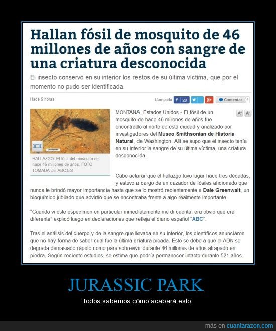 fosil,mosquito. dinosaurio,mounstro,pelicula