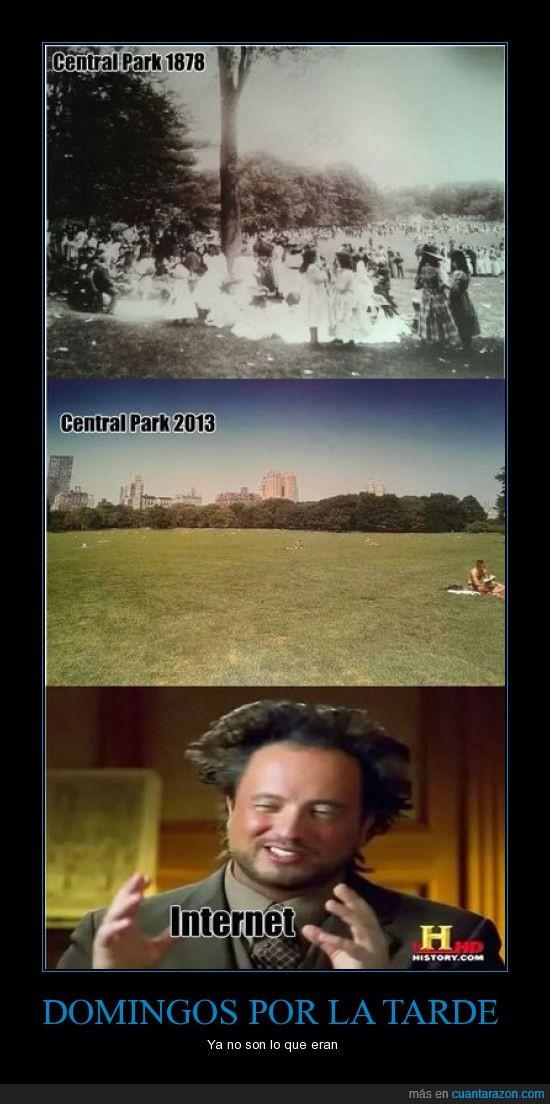 alien,central park,internet,lleno,parque,vacio