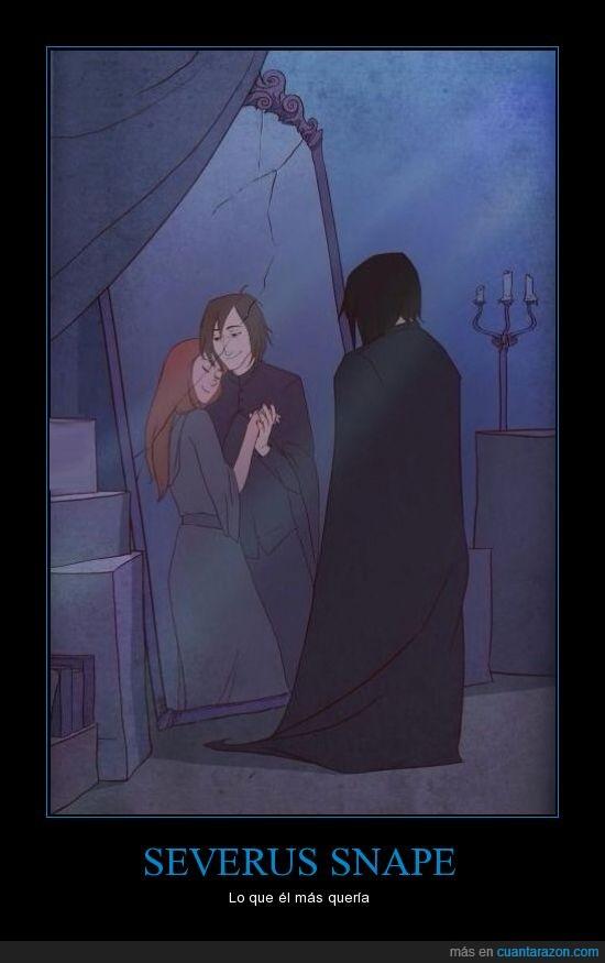 espejo de oesed,Harry Potter,heroe,Lily Potter,Severus snape