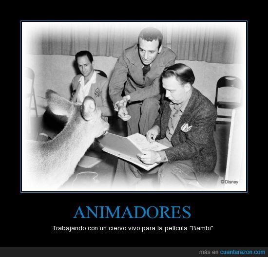 animadores,animar,Bambi,inspiracion,modelo,pelicula,walt disney