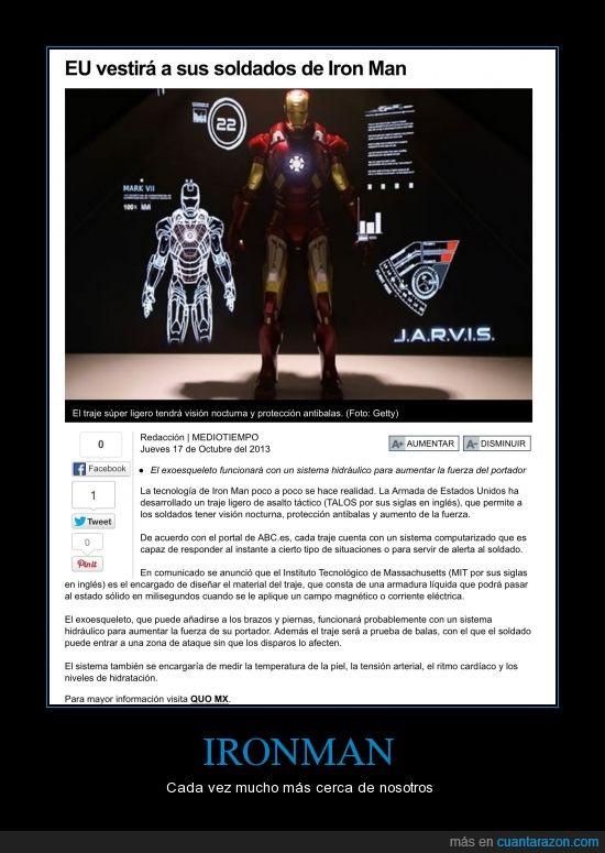 Armaduras,Estados Unidos inventando nuevas armas que sorpresa,EUA,Ironman,Tecnología