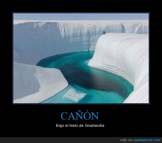 cañón,Groelandia,hielo,increíble