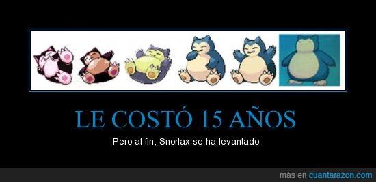 15,años,pokemon,Snorlax,Solo 151,X,Y