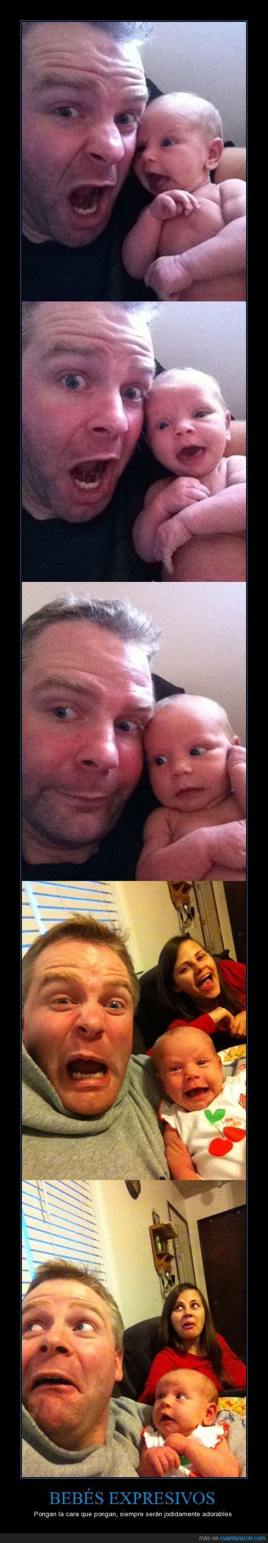 adorable,bebe,cara,expresivo,gesto,jodidamente,mama,papa